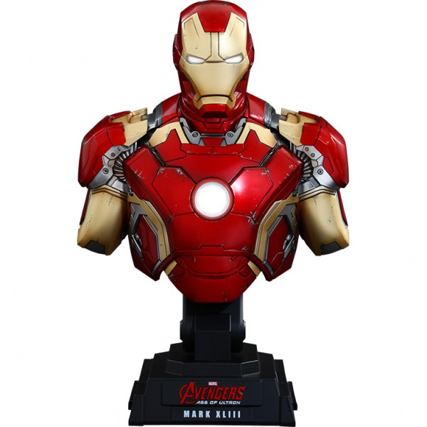 Iron Man Mark XLIII Quarter Scale Collectible Bust from Sideshow Collectibles
