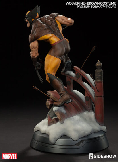 Wolverine Premium Format Figure Brown Costume from Marvel and Sideshow Collectibles