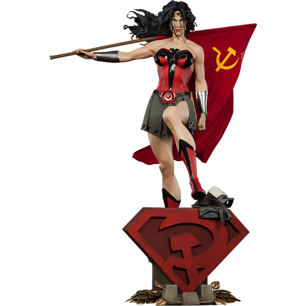 Wonder Woman Red Son Premium Format Figure Statue from DC Comics and Sideshow Collectibles