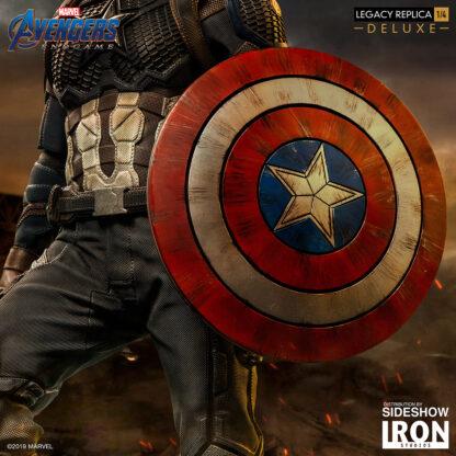 Captain America Deluxe Avengers Endgame 1:4 Scale Legacy Replica Statue from Iron StudiosCaptain America Deluxe Avengers Endgame 1:4 Scale Legacy Replica Statue from Iron Studios