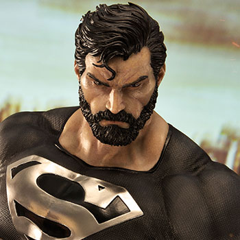 Superman Black Version Statue from DC Comics and Prime 1 Studio