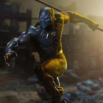 Black Panther Avengers Assemble Statue from Sideshow Collectibles and Marvel