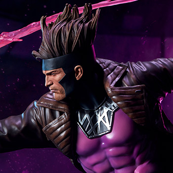 Gambit Maquette from Marvel and Sideshow Collectibles